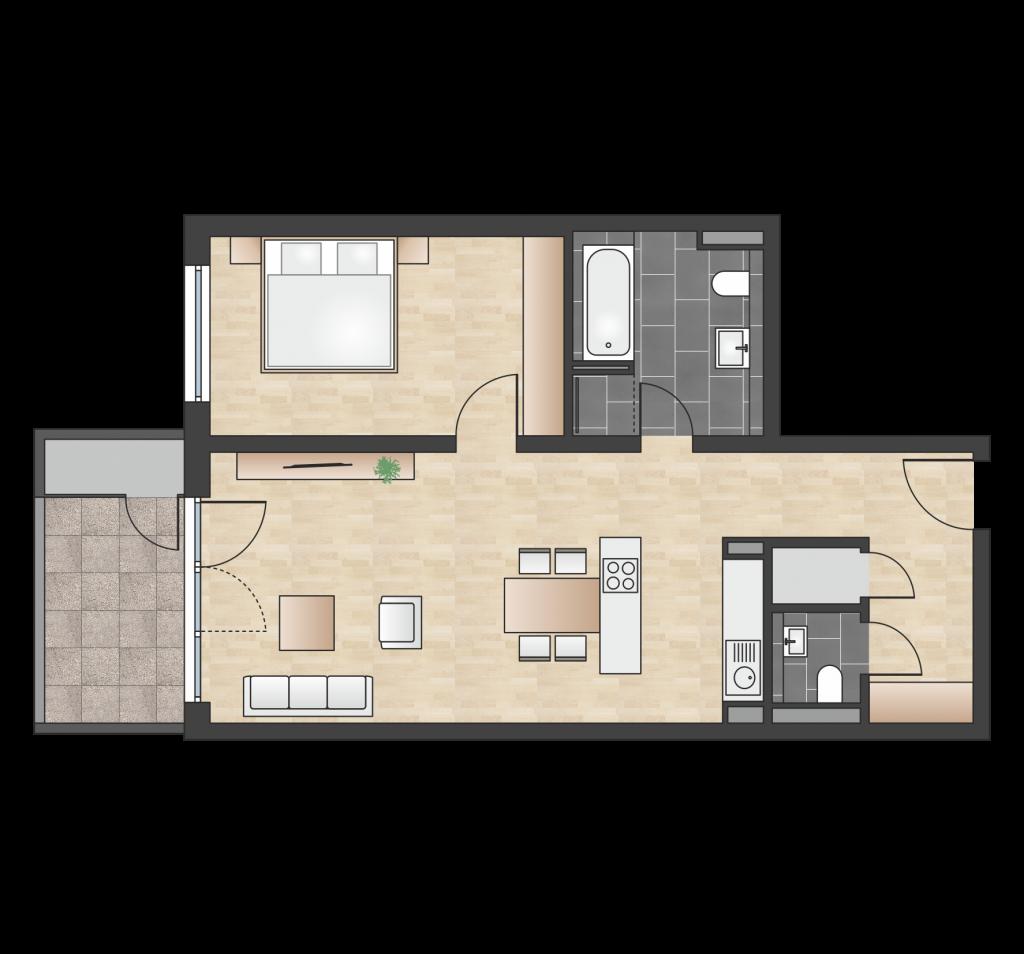 W 1.1.2 mit 69,39 m² | Preis 290.500 EUR