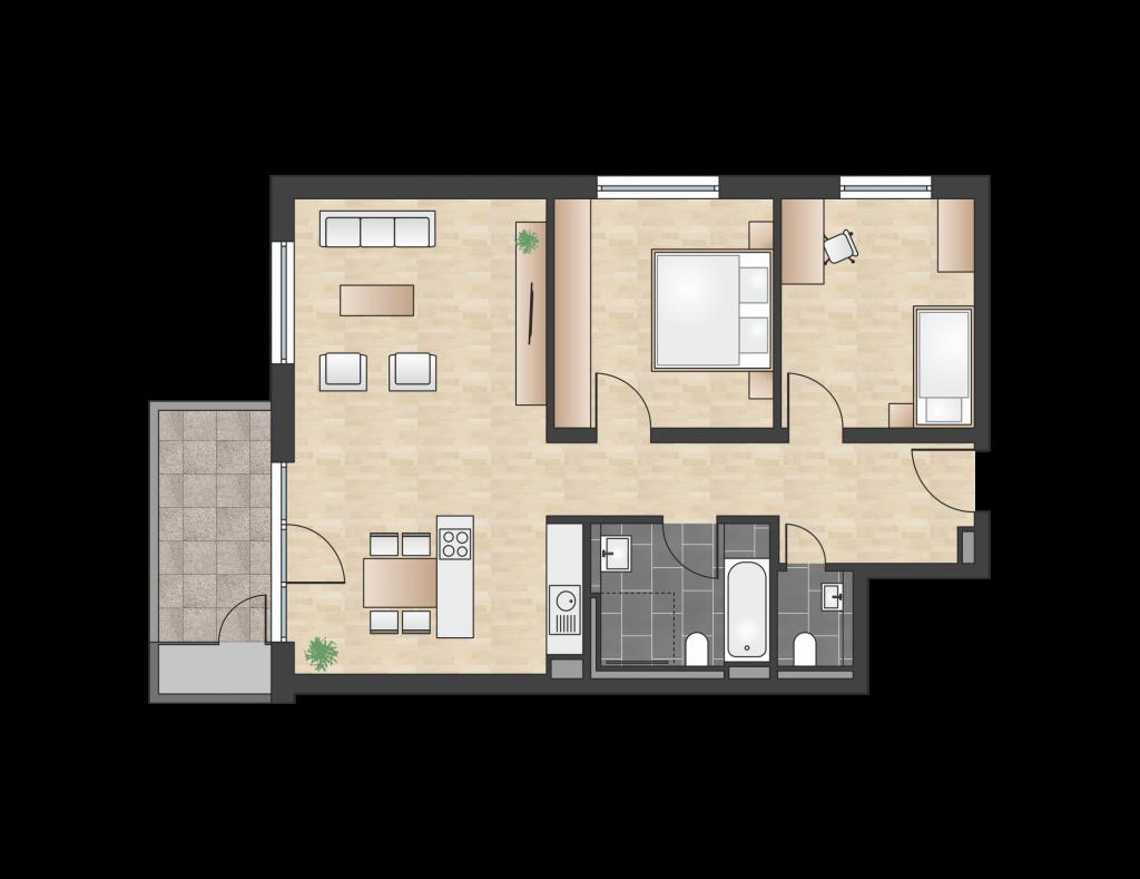 W 3.1.1 mit 81,66 m² | Preis 341.900 EUR