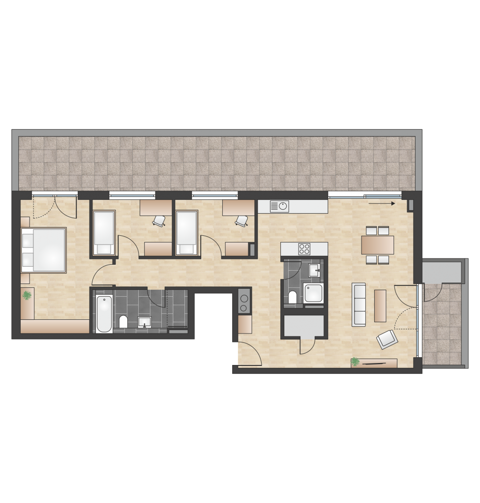 W 4.3.3 mit 122,94 m² | Preis 664.400 EUR