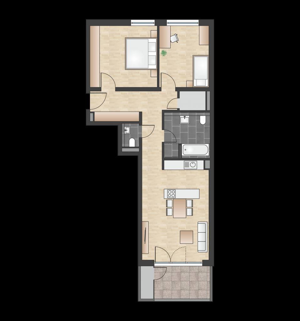 W 1.1.5 mit 81,02 m² | Preis 342.800 EUR